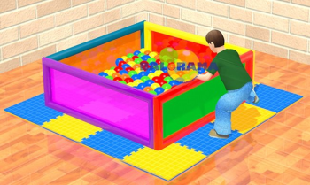 140x140x50 cm Softplay Top Havuzu